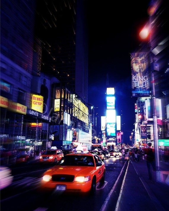 Time Square at Night New York Fine Art Photography