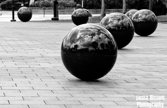 Spheres Black and White Fine Art Photography on Metallic Paper