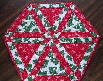 Whimsical Christmas Tree Table Topper