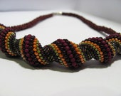 Autumn Joy Undulating Spiral Necklace