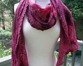 Gossimer Mulberry Wool & Silk Nuno Felted Scarf/Shawl/Wrap