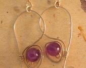 Amethyst Wired Swirl earrings