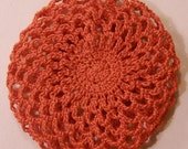 Red Crochet Hair Bun Cover