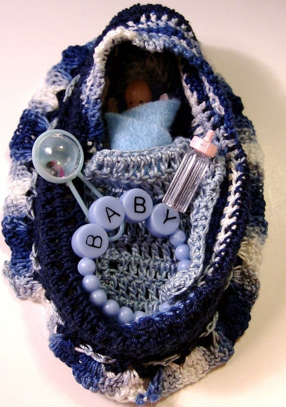 Crochet Baby Purse : Crochet Baby Cradle Purse and Baby by granniegirt on Etsy
