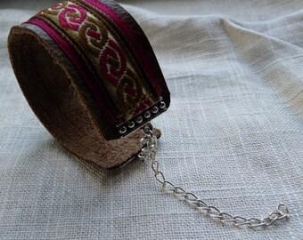 Burgundy Celtic Knot Bracelet