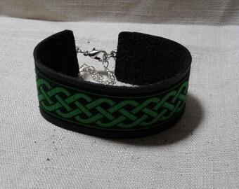 """Leather Bracelet """"Celtic Knot"""""""