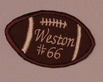Personalize football applique