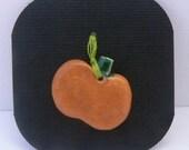 Pumpkin - ceramic charm or pendant - necklace or bracelet