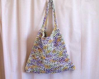 Multicolored Crocheted Tote Bag