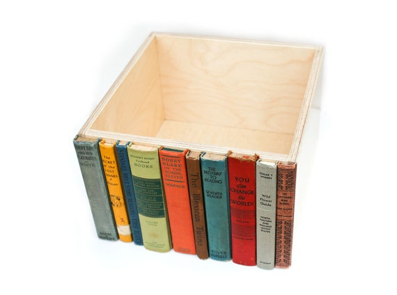 The Original Modern Library Storage Bin, Stylish Storage for cd's, dvd's, magazines, and other much loved clutter