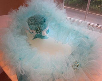 Bridal Shower or Birthday Tulle Lei/Necklace