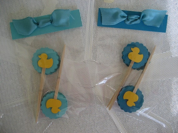 SUMMER SALE:  Cupcake Toppers - Rubber Duck