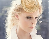 Wynne Petite Straw Cocktail Hat by Love Charlie one of a kind