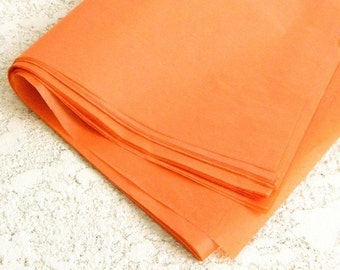 100 PERCENT RECYCLED tissue paper, orange -- 20x26, bulk -- 30 sheets