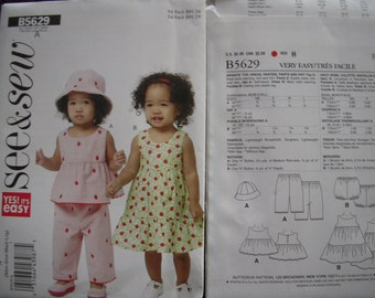 See & Sew Infant Pattern B5629