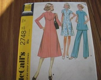 Vintage McCalls 2748 Size 22-1/2 Pattern