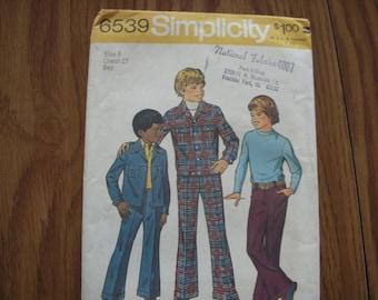 Vintage Simplicity Pattern 6539 Boys' 8