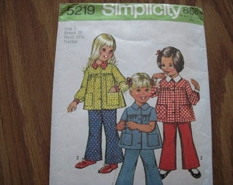 Vintage Simplicity Pattern 5219 Toddler 1