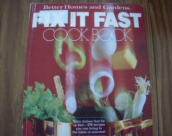 Vintage 1979 Fix It Fast Cookbook