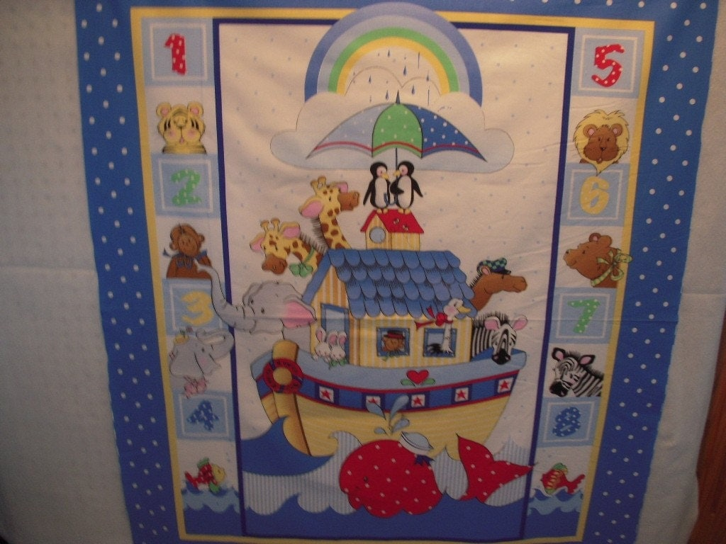 Noah S Ark Quilt Panel