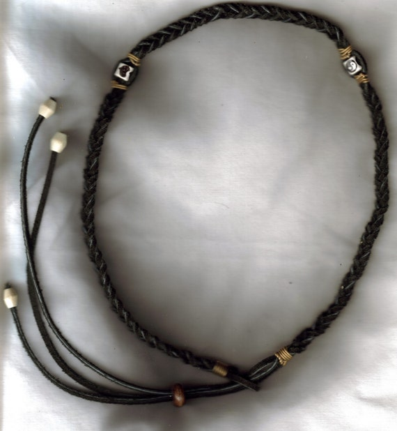 Black Suede Hippie Headband