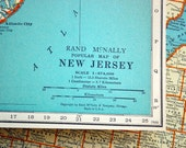 1937 Vintage Map of New Jersey - Vintage New Jersey Map - New Jersey Vintage Map