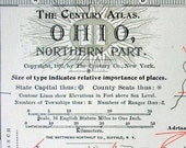 1902 Antique Map of the Northern Part of Ohio - Antique Ohio Map (Northern) - Century Atlas
