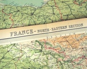 1922 Very Large Map of France -- Northeastern Section