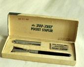 1963 Vintage Gadget Pocket Stapler for James Bond. Made in USA.