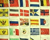 1887 Antique Print of Flags - Antique Print of Flags - Antique Flag Print