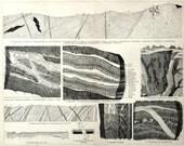 Antique Print of Mineral Deposits - 1894 Vintage Print - Minerology - Mining