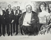 1907 Antique Charles Dana Gibson Print. How to Keep Your Daughter