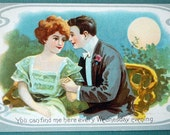 1911 Funny and Romantic Postcard. You can find me here every Wednesday evening