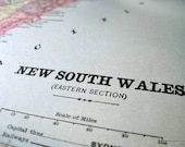 1900 Antique Map of New South Wales (eastern section), Australia