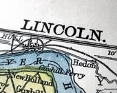 1900 Antique Map of Lincoln, the UK