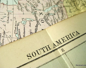 1887 Antique Map of South America - South America Antique Map