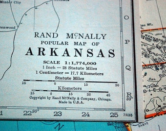 1937 Vintage Map of Arkansas - Arkansas Vintage Map