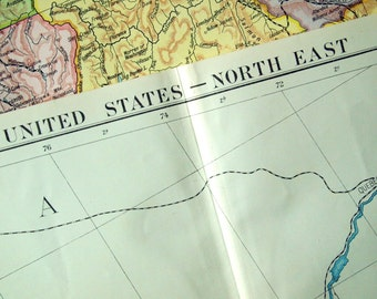 1920 Very Large Map of the United States (North East)