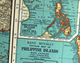 1937 Vintage Map of the Philippine Islands - Philippines Vintage Map