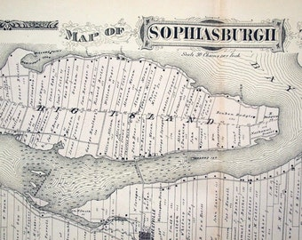 1878 Large Vintage Map of Sophiasburgh Township, Ontario, Canada - Handcolored - Vintage City Map - Old City Map