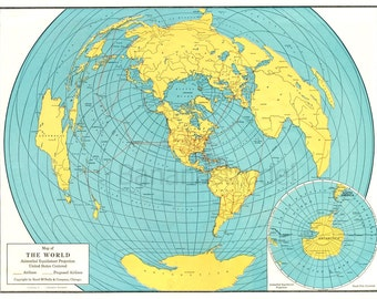 Azimuthal projection Etsy