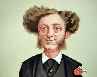 1874 Vanity Fair Caricature - Albert Grant, MP - Antique Print