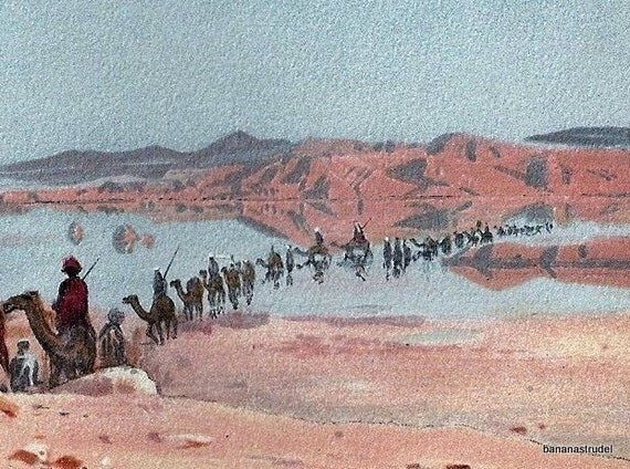 1895 Chromolithograph of a Desert Mirage