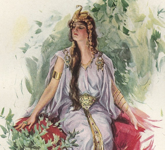 1907 Antique Harrison Fisher Illustration. Flashing Forth a Haughty Smile. From A Dream of Fair Women