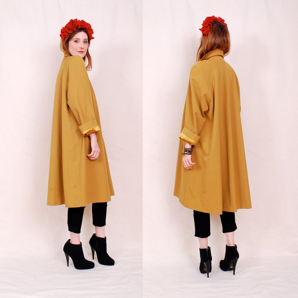 RESERVED Vintage Luxurious 60's Swing Coat deep by blackmoonsky