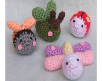 Instant Download PDF Crochet Pattern - Close to nature (Bugs)
