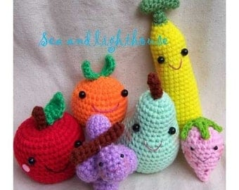 Amigurumi Crochet PDF pattern - Healthy fruits