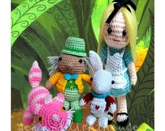 Instant Download PDF Crochet pattern - Alice in wonderland Set SAVE UP