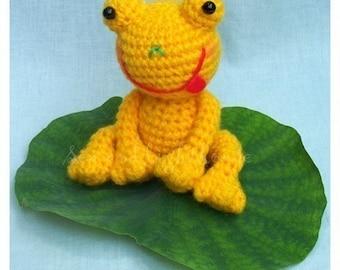 Amigurumi Crochet pattern - Yellow frog PDF Toy Animal