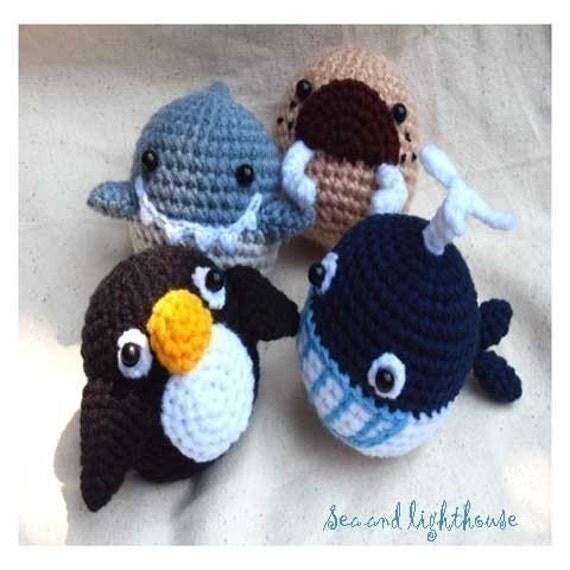 Crochet Sea Life Amigurumi : Items similar to Instant Download Amigurumi Crochet PDF ...